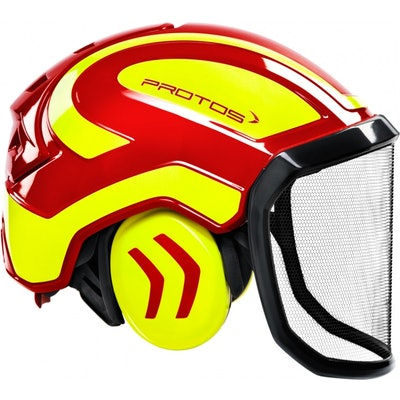 fa81f0fa5198bf PFANNER Casque Protos intégral Forest rouge   jaune